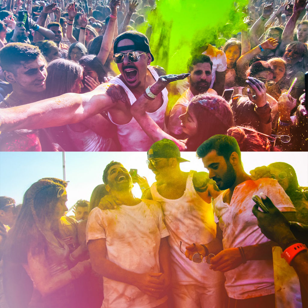 "Colour Day Festival at ""Bachelor 3"" movie"